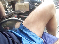 Rickshaw ride with a visible pecker