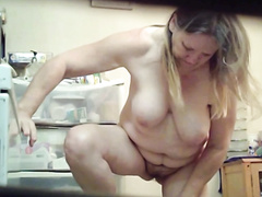 Grandma nude in bathroom