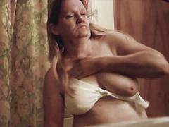 grandma showing nice boobs